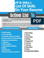 Skills to Put on Resume Action List