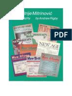 Dimitrije Mitrinovic - A Biography 2006