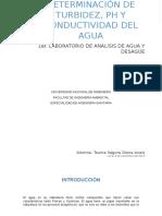 Informe de laboratorio de Analisis de Agua y desague