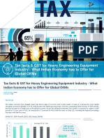 Tax Facts & GST for Heavy Engineering Equipment Industry - What Indian Economy Has to Offer for Global Majors