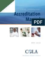 COLA Laboratory Accreditation Manual