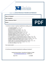 Seller's Business Disclosure Checklist Statement