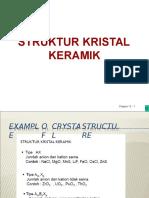 Struktur Kristal Keramik