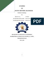 PROJECT REPORT Bhajan Lal Boiler