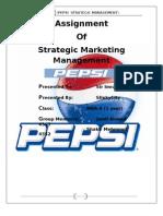 Pepsi Fianl Report strategic marketing management
