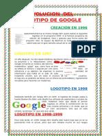 Evolucion Del Logotipo de Google