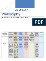 FLA No. 2 Matrix on Asian Philosophy John Mark Hermedilla