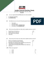 Just Win Strategies poll in WV GOV 9/20/16