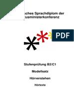 Modellsatz B2-C1 HV H÷rtexte