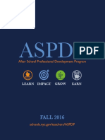 ASPDP Fall 2016 Catalog