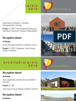 Architecture Award Passive House 2010