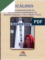 Decálogo para la autoprotección preventiva de defensoras y defensores comunitarias de derechos