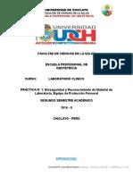 Bioseguridad y Reconocimiento de Materiales de Laboratorio - Laboratorio Clinico