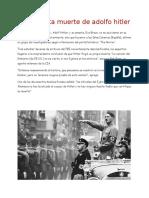 La Presunta Muerte de Adolfo Hitler