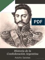 Historia de La Confederacion Argentina - Tomo III