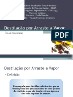Destila+º+úo por Arraste a Vapor