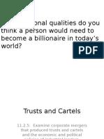 trusts and cartels