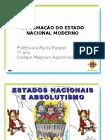 7ªem_a Formacao Do Estado Nacional Moderno