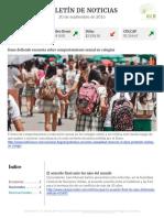Boletín de noticias KLR 20SEP2016