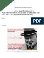 Winston Churchill Quería Empapar a Alemania Con Gas Venenoso (Como Hizo Con Irak en La Primera Guerra Mundial) _ Qué Nos Ocultan