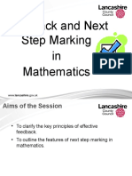 Feedback and Next Step Marking for Website
