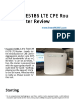 Huawei E5186 CAT6 4G Router Test and Review