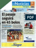 Últimas Noticias Vargas martes 20 septiembre  de  2016