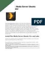 Install Plex Media Server Ubuntu 16