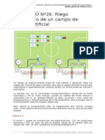 Proyecto Nº26. Riego Automático de Un Campo de Césped Artificial