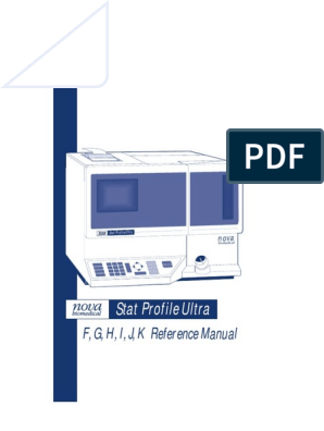 nova biomedical - Stat Profile Ultra (F,G,H,I,J,K Reference