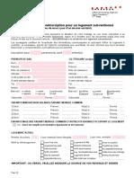 SLG Subv Formulaire de Preinscription Juillet 2016