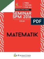 Matematik July Seminar