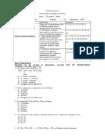 Prueba Quimica Organica 2016 III Medio