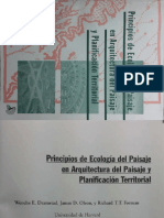 Principios de Ecología Del Paisaje en Arquitectura Del Paisaje y Planificación Territorial