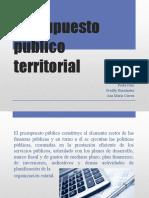 Presupuesto Publico Territorial