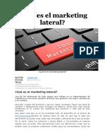 Qué Es El Marketing Lateral