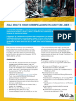 AIAG ISO/TS 16949 CERTIFICACION EN AUDITOR LIDER