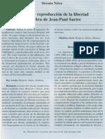 Creacion y Reproduccion de Libertad en La Obra de Jean-Paul Sarte