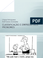 Classificação e Emprego Dos Pronomes
