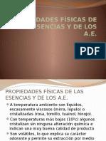 Aroma 2 Propiedades Físicas de Los a.E.