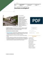 ¿Qué Es La Arquitectura Ecológica