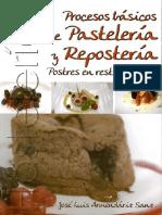 Procesos Basicos de Pasteleria y Reposteria Jose Luis Armendariz Sanz PARANINFO