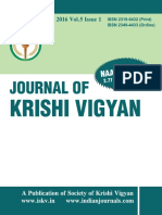 Journal of Krishi Vigyan Vol 5 Issue 1