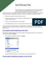 Actualizar a Outlook 2016 Para Mac
