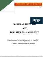 Disaster Management - CBSE Class XI
