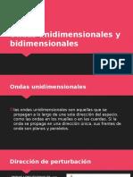 Ondas Bidimensionales y Unidimensionales