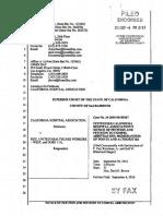 California Hospital Association's lawsuit versus SEIU-UHW over $34 Million Locked in Secret Partnership Organization