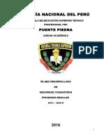 Silabo Final de Seguridad Comunitaria - 2016-1