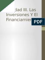 Las Inversiones y El Financiamiento