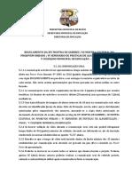 Regulamento Mostra de Saberes 2016 - Comunicação Oral